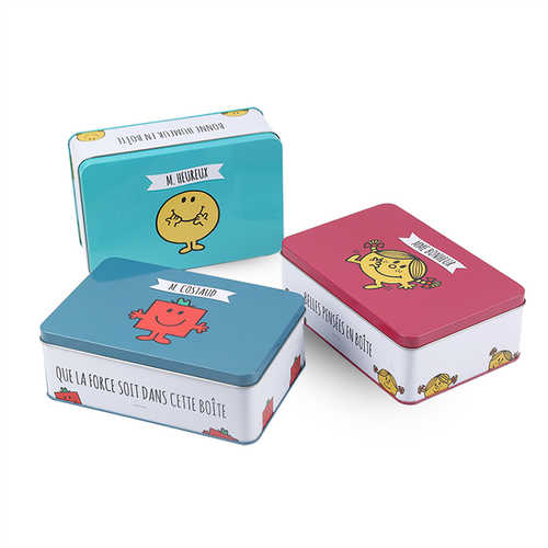 Wholesale Customizable Color metal Square Candy Gift Box Packaging High Quality Tin Box
