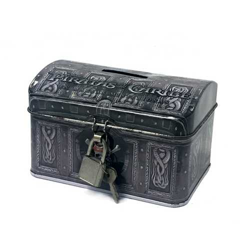Coin Tin Box With Lock
