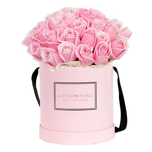 Factory Free Sample Luxury Custom Logo Round Paper Rose Flower Box