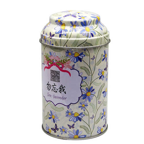 Quality metal cylinder loose flower oolong green tea tin box