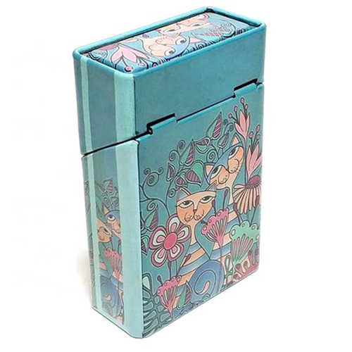 Custom made cigar case metal tin cigarette box with high quality