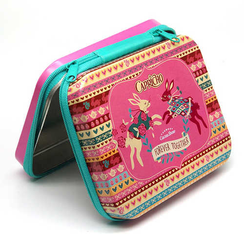 Square Tins With Zipper