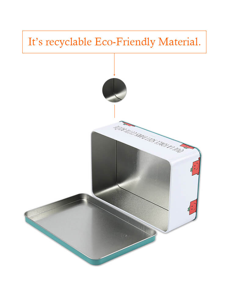 square tin box is recyclable