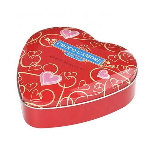 Valentine's day Heart Shape Metal Case Tin Chocolate Box Form China Manufacturer