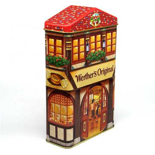 Wholesale Customized House Shape Gift Package Tin Box for Baby Gift From China