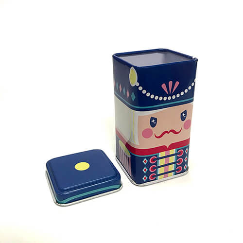 Wholesale Square Tea Container Tin Gift Box Packaging Metal Tin Box