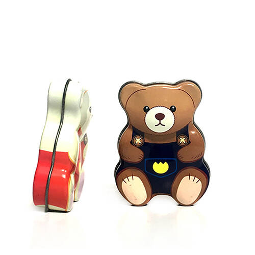 Bear Shape Metal Tin Box
