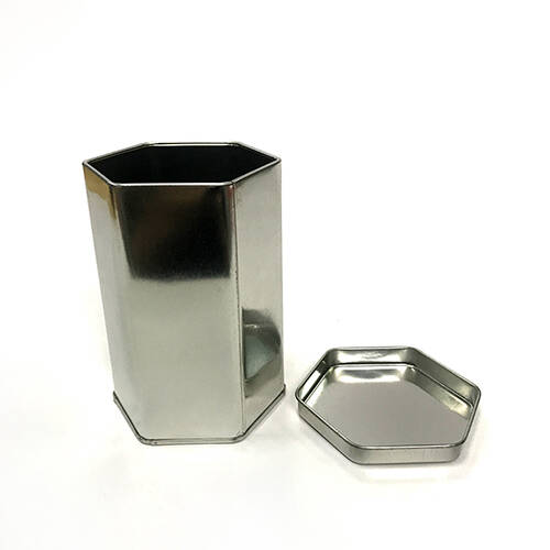 Octagon Shape Tin Box