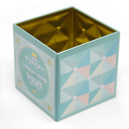 Factory price Hot Sale Multicolor Square Multipurpose Cookie Chocolate Packaging Tin Box